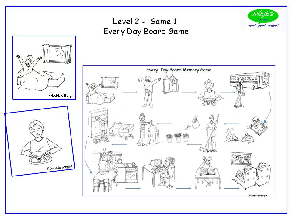 DebbieBanglit Level 2 ESL Board Game - Every Day Vocabulary