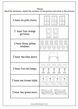 DebbieBanglit Summer Fun 1 - Numbers, Colours, Furniture