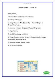 Parent Letter for Level 2B