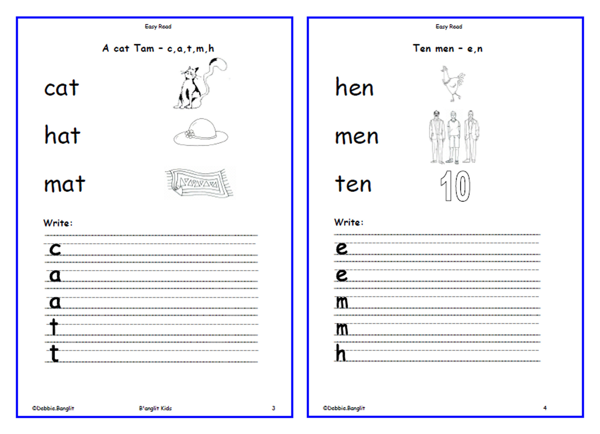 Easy Read - worksheets 3 & 4