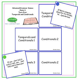 Advanced Grammar Game #6 Turn Over Conditionals and Temporals