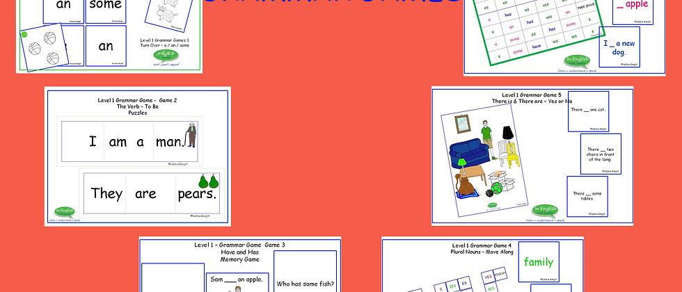 Grammar Games - Level 1 - Set of 6