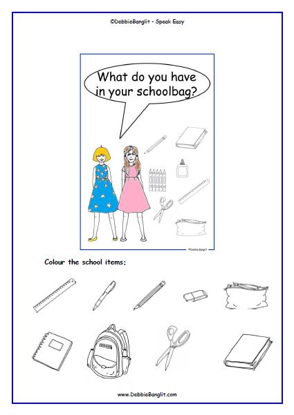 Schoolbag Talking Card