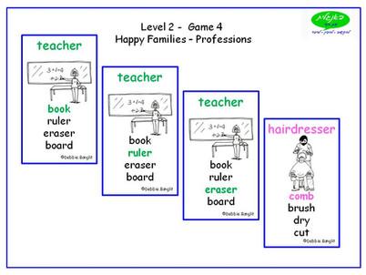 DebbieBanglit Level 2 ESL Happy Famlilies - Professions
