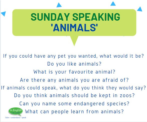 Sunday Speaking Subjects - Animals