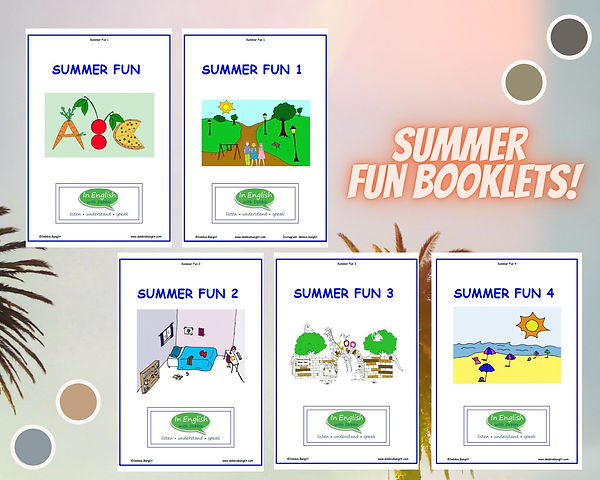 Summer ESL Booklets