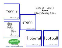 Level DebbieBanglit Sports Memory Game