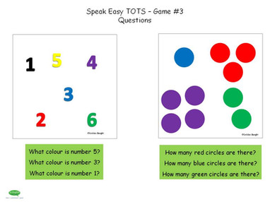 ESL Speak Easy Tots - Game 3