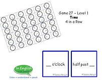 ESL pre A1 Level DebbieBanglit - Time 4 in a row board game
