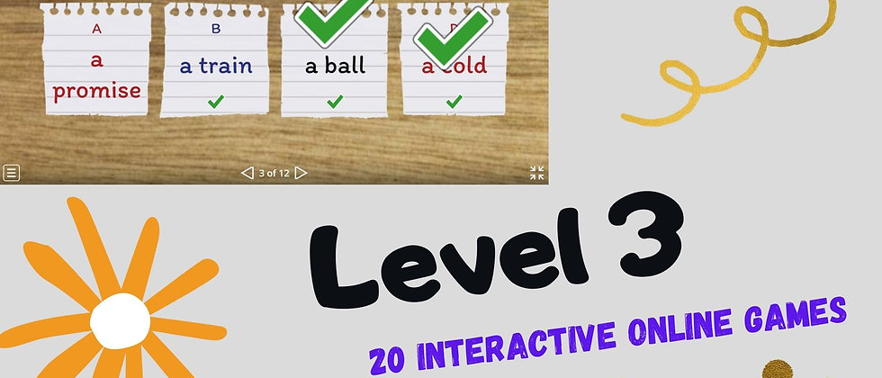 Level 3 - 20 Interactive Online Games