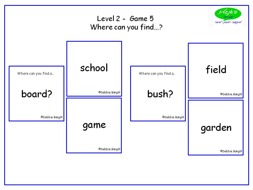 DebbieBanglit Level 2 ESL Card Game - Where can you find...?