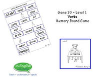 ESL Verbs Board Game - Level 1