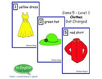 ESL Clothes Card Game