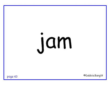 ESL phonics flashcard - jam
