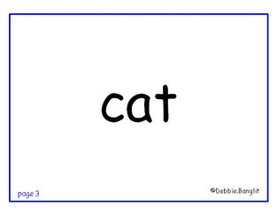 ESL phonics flashcard - cat