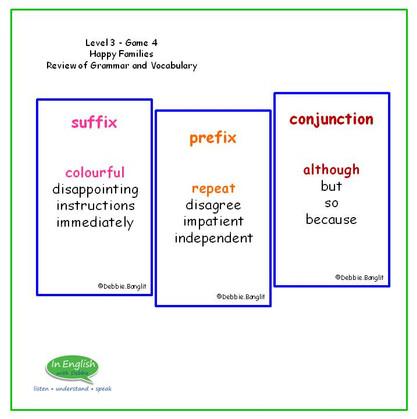 Level 3 #4 - Happy Families - Grammar Points
