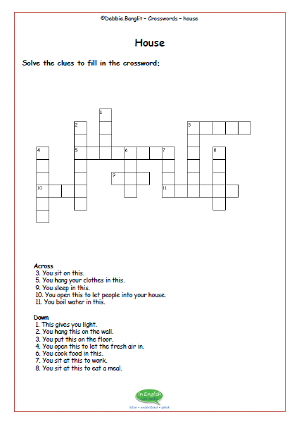 ESL Crosswords - house