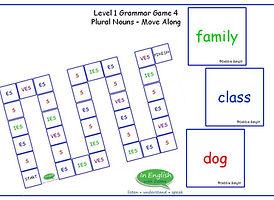 ESL DebbieBanglit Grammar Board Game - Move Along - Plural Nouns