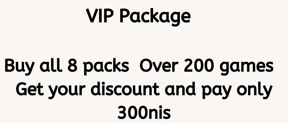 VIP Package - Set of 8 Online Games