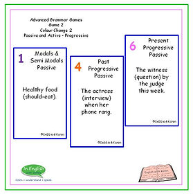 Advanced Grammar Game #2 - Colour Change - Passive and Active Voice - Progressive