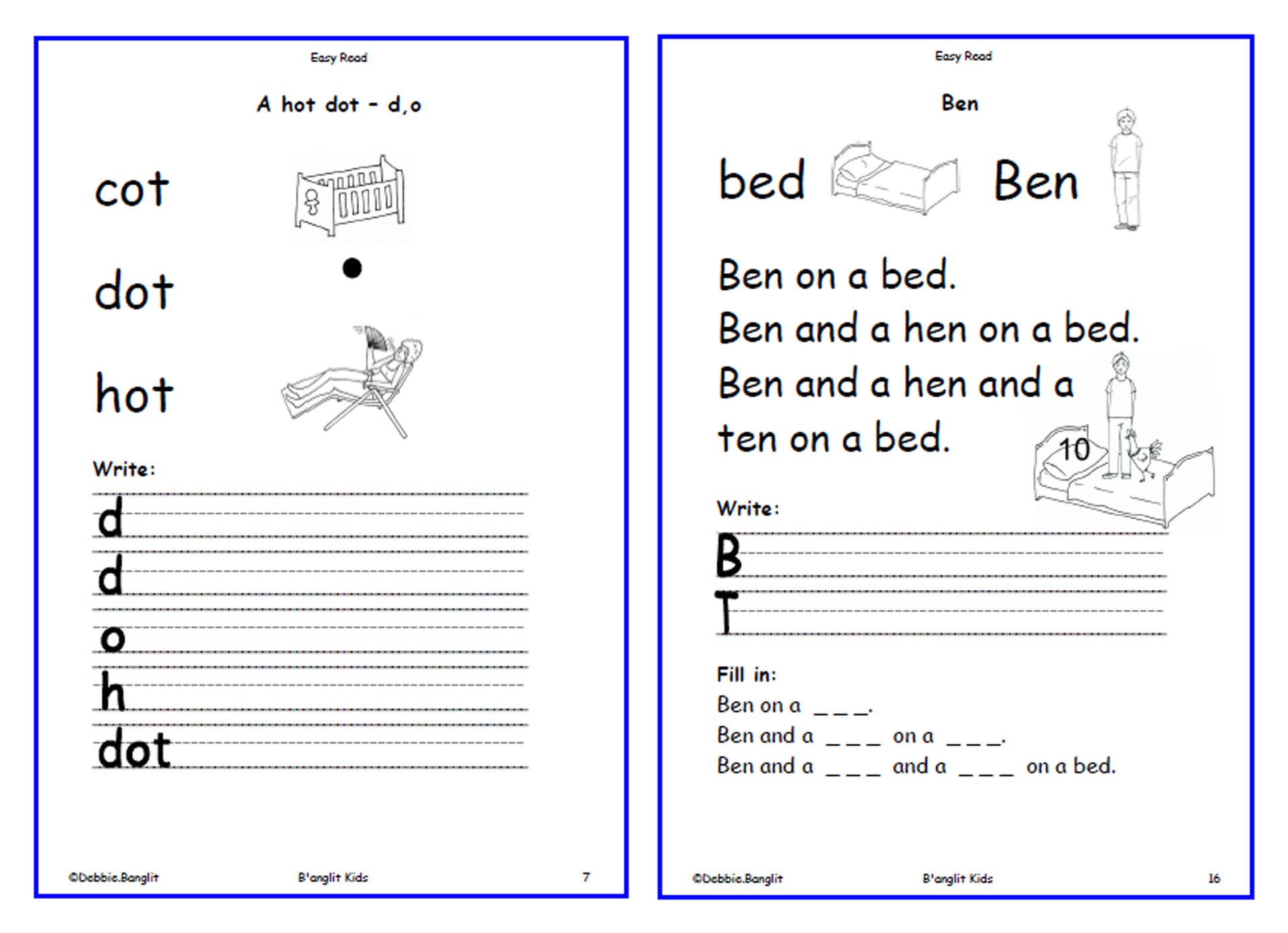 Easy Read - worksheets 7 & 16