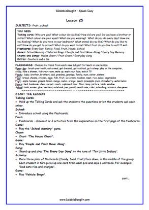 Speak Easy - Lesson Plan 25
