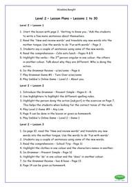 Level 2 - Teacher Lesson Plans
