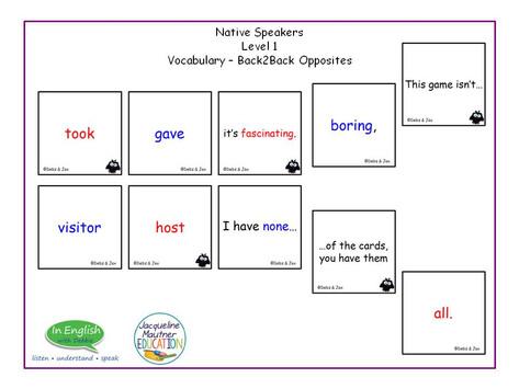 EFL Opposites Vocabulary Game