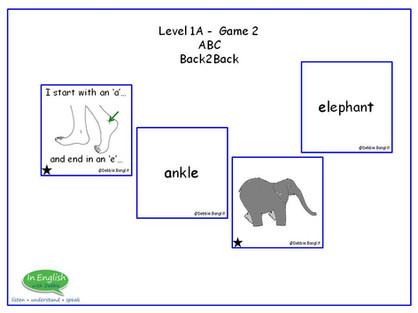 ESL Card game - ABC Back2Back