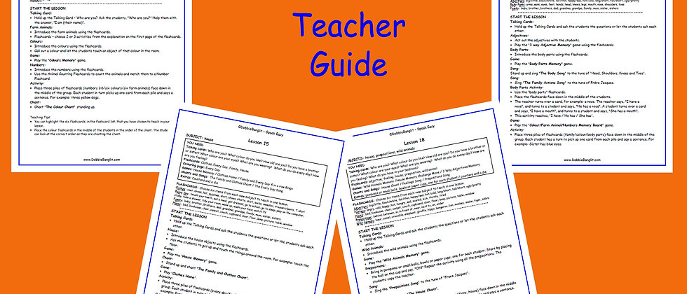 Speak Easy Teachers' Guide