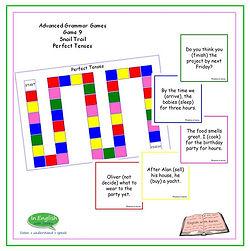 Advanced Grammar Game #9 Move Along Perfect Tenses