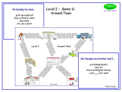 DebbieBanglit Level 2 ESL - Around Town Game