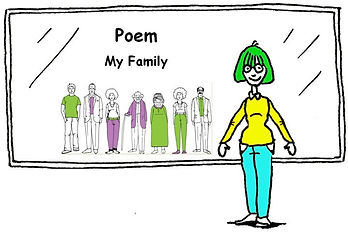 English language Poem - My family