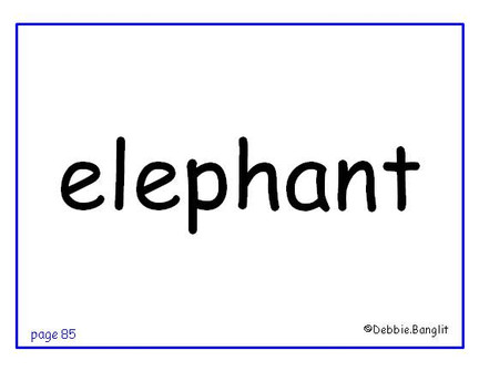 ESL phonics flashcard - elephant