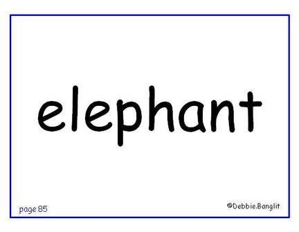 ESL phonics flashcard - elephant