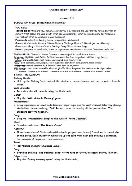 Speak Easy - Lesson Plan 18