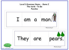 ESL DebbieBanglit Level1 Grammar Game - Puzzles - The verb To Be