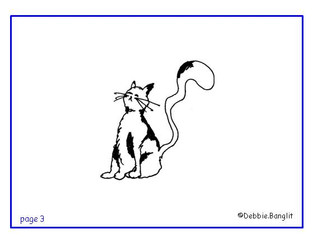 ESL phonics flashcard - cat illustration