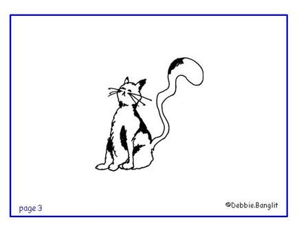 ESL phonics flashcard - cat illustration