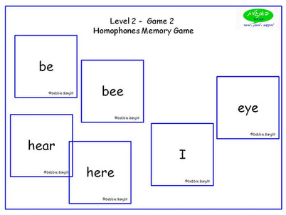 DebbieBanglit Level 2 ESL Card Game using Homophones