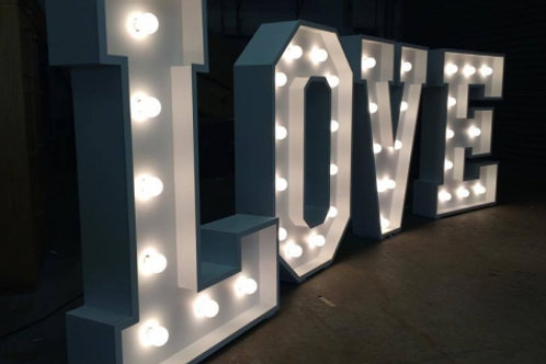 Love Letters Sign Hire