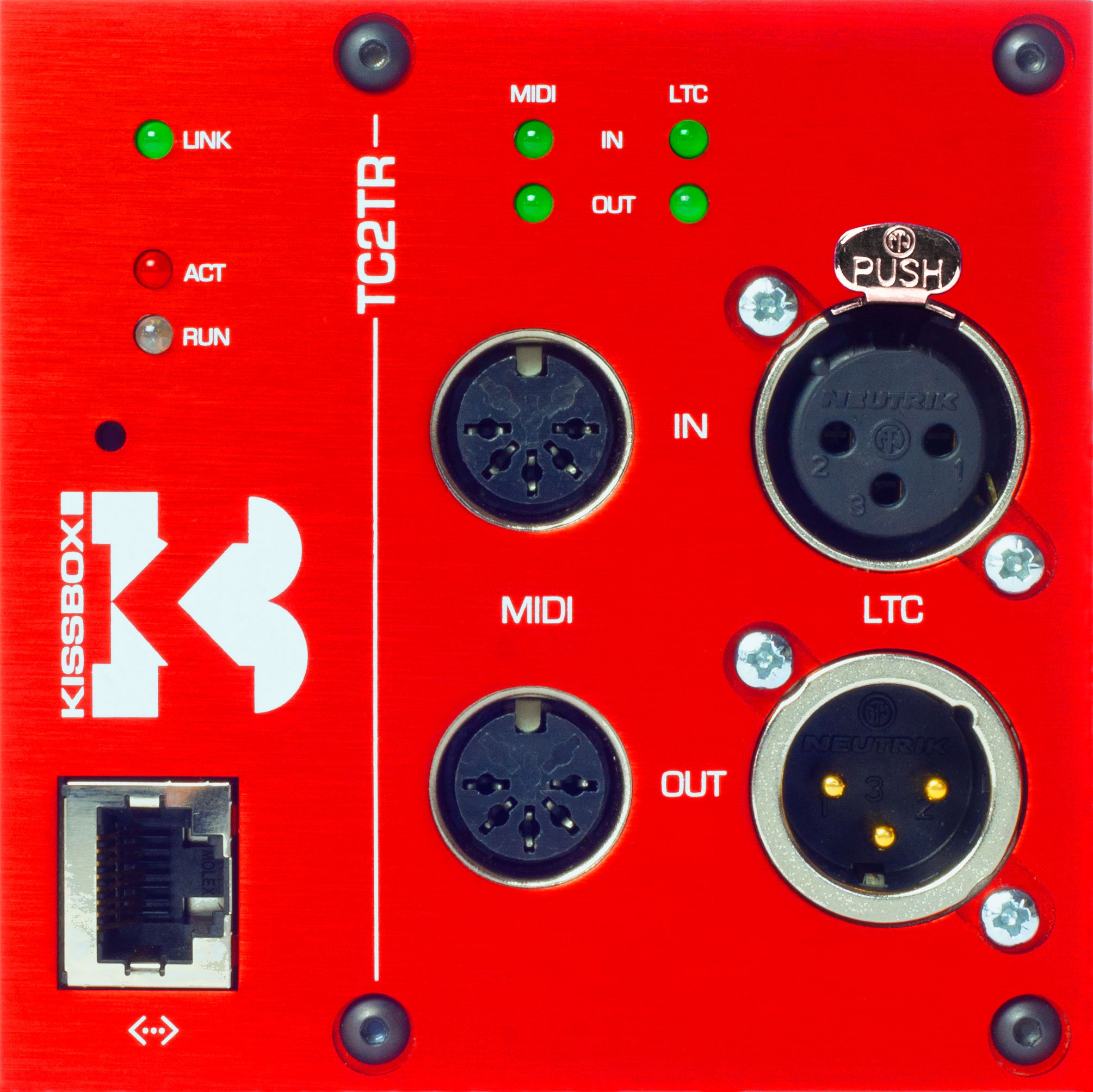 TC2TR LTC & MTC/MIDI Transceiver