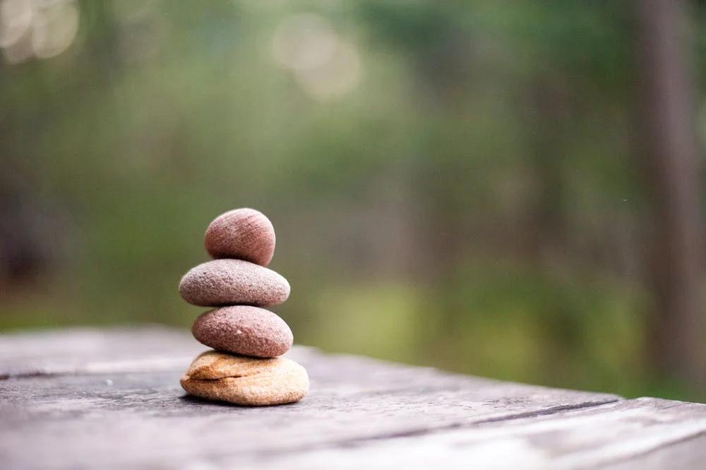Zen stone, symbol of balance and meditation