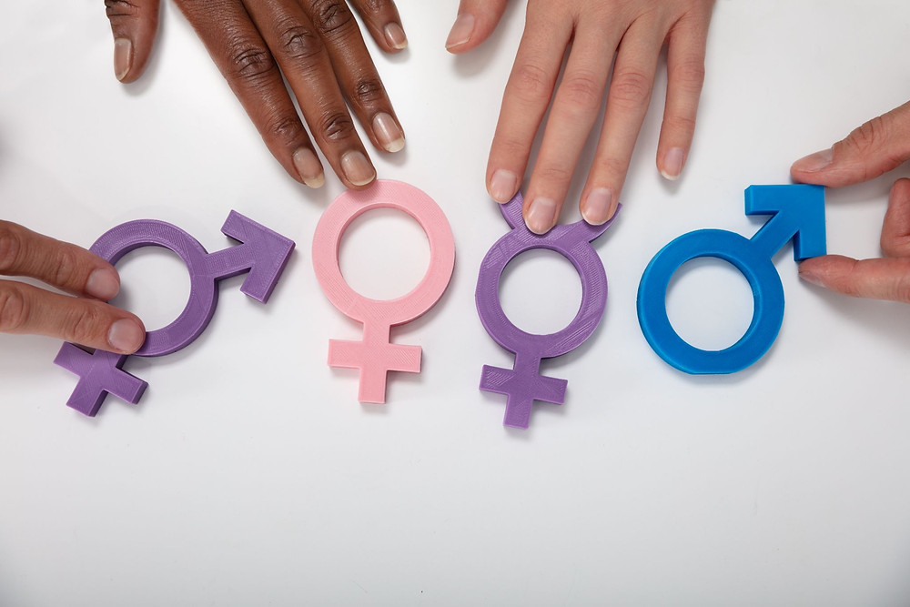 Multiethnic People Holding Different Type Of Gender Sign