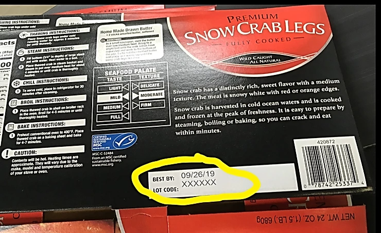 Snow Crablegs, Food Product