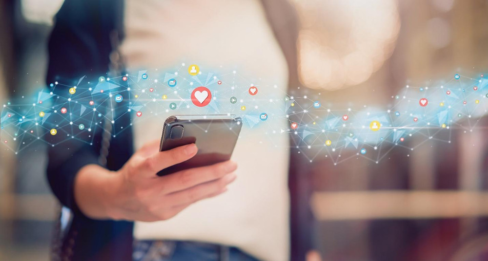 Social media emojis and phone