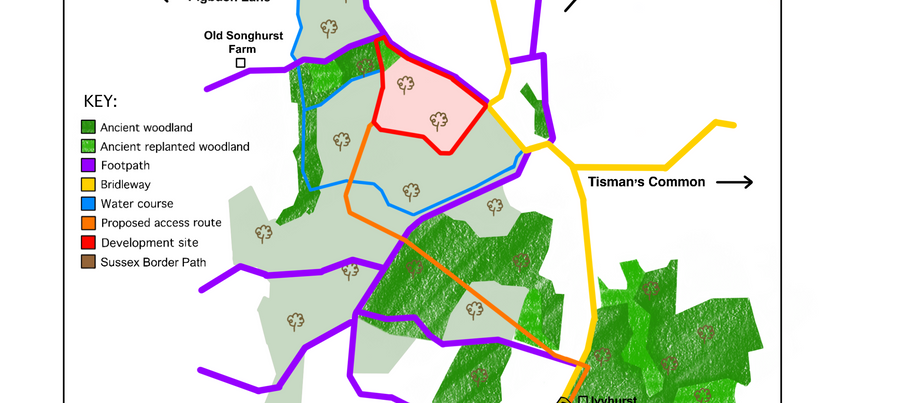Public Footpaths & Bridleways could be disrupted by plans to develop woodland.