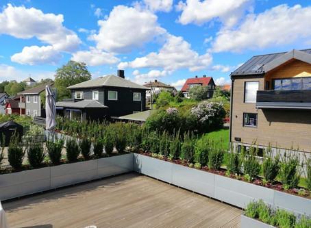 Skap lune soner på terrassen