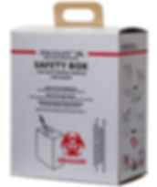 POLYSAFE 10L Safety Box for safe and easy collection of used syringes and needles. Tested against E10/SB01-VP.1