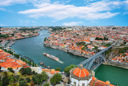 Aerial View of Porto and AmaVida